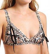 Hanky Panky Leopard Nouveau Signature Lace Peek a Boo Bralette 4x7831