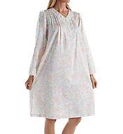 Miss Elaine Brushed Back Satin Floral Short Gown 231146