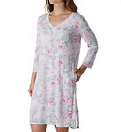 Miss Elaine Cottonessa Long Sleeve Short Gown With Pockets 232816